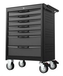 7 Drawer trolley with MIS system, black-grey