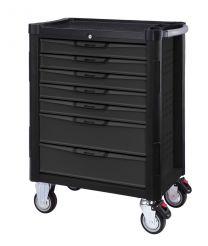 BOXO 7 Drawer trolley with MIS system, Black/Grey, 724x459x1000 mm, 203pc
