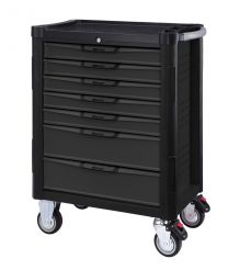 BOXO 7 Drawer trolley complete with BXA-078 bodywork tool set 78pc | With MIS system | Black/grey