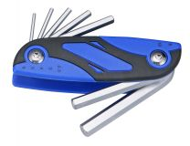 Quick-select hex key wrench set 7pc