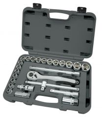 "BOXO 1/2"" socket set 25pc"