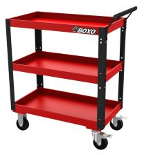Heavy duty service cart Black / Red