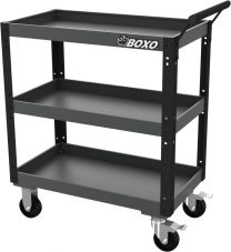 BOXO Heavy duty service cart, black-grey