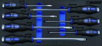 Go-through screwdriver set 7pc
