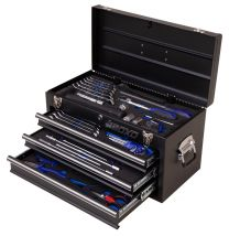 BOXO 3 drawer carry box 'Karting' with 57pc tool set