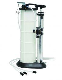 Manual vacuum/pressure fluid evacuator