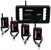 Wireless electronic stethoscope set