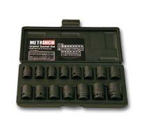 Impact socket set 15pc - MET-2400