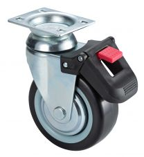 125 mm Swivel caster TPR with brake 1pc