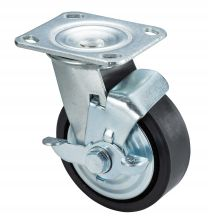 125 mm Swivel caster PU with brake 1pc