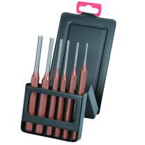 Pin punch set in a metal box 6pc