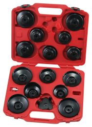 Cup type oil filter wrench set, 16pc