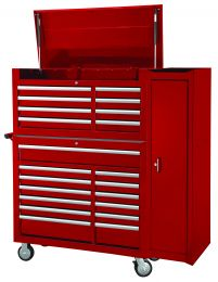 Full-length side cabinet - red