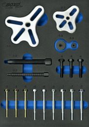 Flange-type steering wheel puller set 18pc